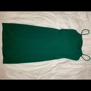 Green body con dress